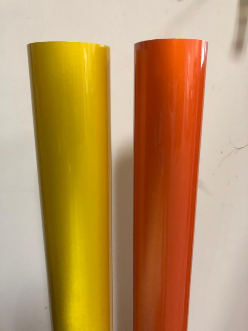 Engineering Grade (EG) YELLOW & ORANGE Reflective Sticker - 1200DPI (UV Ink) - Non-Light Box