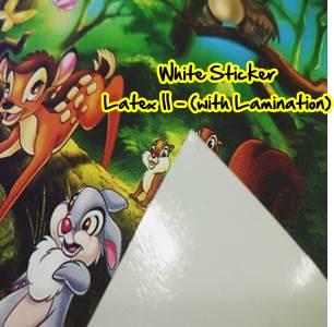 MONE GLOSSY White Sticker OUTDOOR - 1200DPI (Latex II Ink) - With Lamination (Non Light Box)